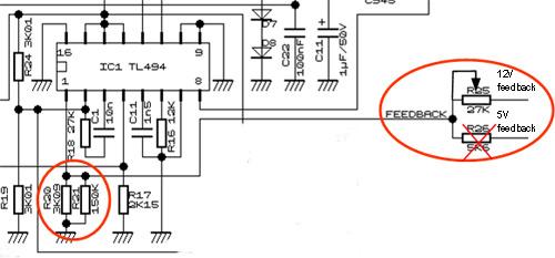 Modifikasi PC power supply 12V menjadi 13 8V – Dian